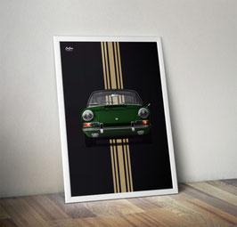 """Poster: Porsche 911 early 911 """"irish green"""""""