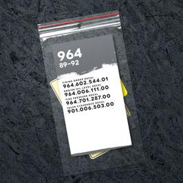 Porsche 911 964 Technik Sticker Set (1989 - 1992) Nachbildung