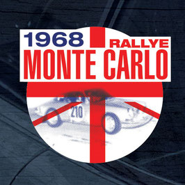 Vintage Porsche Monte Carlo 1968 Winner Window Sticker