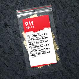 """Porsche 911 """"Early""""  Technik Sticker Set (1965 - 1972) Nachbildung"""