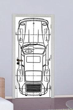 Tür Sticker Doorwrap Porsche Turbo Blueprint