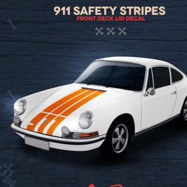 Porsche 911 safety paint hood stripes / Motorhaubenstreifen.