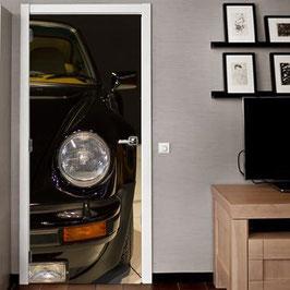 Tür Sticker Doorwrap Porsche Turbo Black