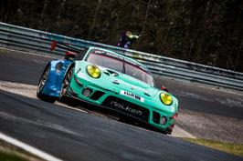 Kunstdruck / Poster Porsche 911 Falken NLS3#105.13