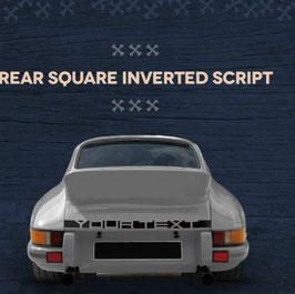 """Vintage Schriftzug z.B.  Porsche oder nach Wunsch """" Your Text """" für die Heckklappe."""