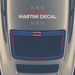 Porsche Martini Heckscheibenaufkleber für Porsche 911.