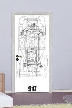 Tür Sticker Doorwrap Porsche 917 Blueprint
