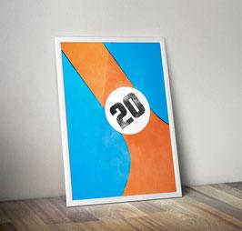 Poster: Team Farben Gulf, Martini, Brumos