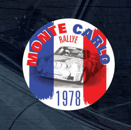 Vintage Porsche Monte Carlo 1978 Winner Window Sticker