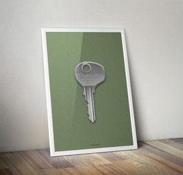 Poster: Porsche Key / Schlüssel  Poster 356