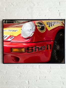Poster: Porsche Francorchamps  (red) 50cm x 70cm