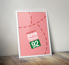 Poster: Porsche Le Mans 2018 Winner Poster