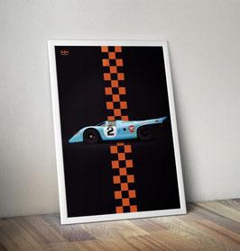 Poster: Porsche 917 Gulf
