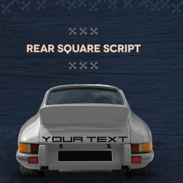 """Vintage Schriftzug z.B.  Porsche oder nach Wunsch """" Your Text """" für die Heckklappe. (ohne Hintergrund )"""