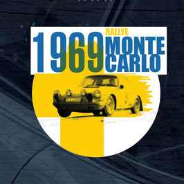 Vintage Porsche Monte Carlo 1969 Winner Window Sticker