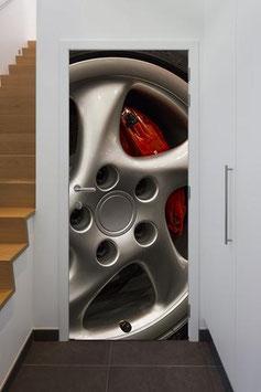 Tür Sticker Doorwrap Porsche 993 Turbo Rad