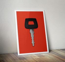 Poster: Porsche Key / Schlüssel  Poster 911 G Model