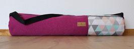 Yogatasche Beere/Dreieck pastell