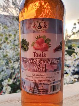 Tonis Erdbeer/Rhabarberwein