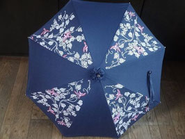 古典柄  手染 日傘 (紺色)