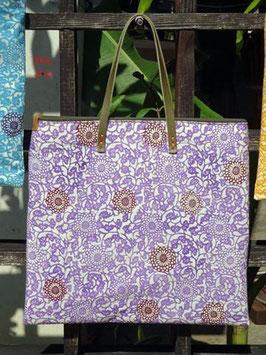 ミニバック  唐草模様 紫
