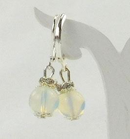Opal-Ohrringe 8mm mit Strass