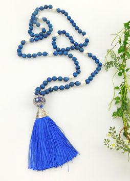 Gebetskette aus Drusen-Achat (108 Perlen = Mala)