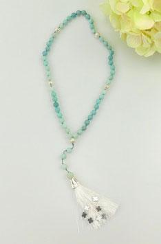 Gebetskette aus Amazonit (59 Perlen = Rosenkranz)