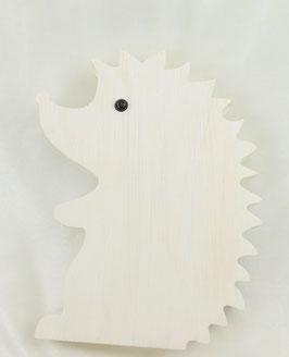 Weißer Igel aus Holz
