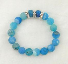 Armband Drusen-Achat blau 14mm