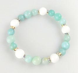 Armband Amazonit weiße Jade