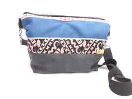 Große Handtasche rosa/schwarz