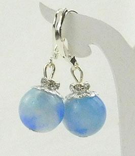 Ohrringe aus blauem Achat