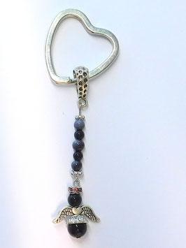 Schlüsselanhänger mit Schutzengel aus Onyx