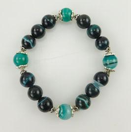 Armband Achat blaugrün 12mm