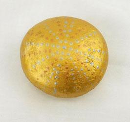 Mandala-Stein Goldschimmer