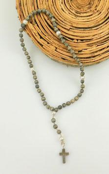 Gebetskette aus Holz (59 Perlen = Rosenkranz)