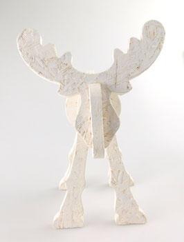 Großer Elch, weiß, 36cm x 56cm