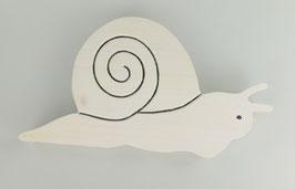 Skulptur Schnecke, weiß