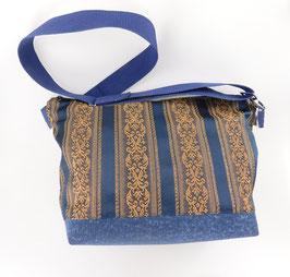 Große Handtasche mit Streifendesign