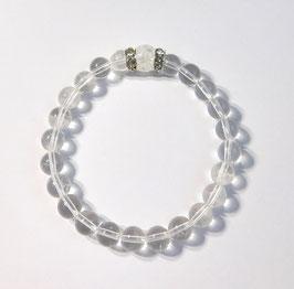 Armband aus 8 mm Bergkristall-Perlen