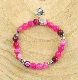 Armband aus pink Band-Achat