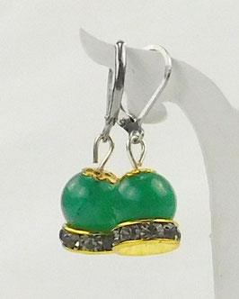 Jade- Ohrringe grün