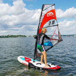 Aqua Marina Champion SUP Bord aufblasbar mit Windsurf Segel