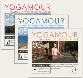 Set: Yoga für jede Tageszeit - 3 YOGAMOUR DVDs