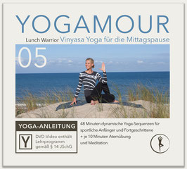 YOGAMOUR DVD 05, Lunch Warrior – Vinyasa Yoga für die Mittagspause