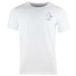 Möwe | honourebel Men's SMALL HERRING GULL heavy T-shirt - Whitewater/Blue-Grey