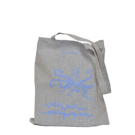 Recycled Carrier Bag COMMON OCTOPUS - MistyRainbowGrey/BrightBlue