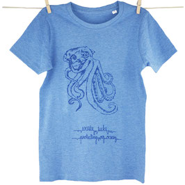 honourebel Kids GIANT OCTOPUS T-shirt - 'Stormy' BalticSeaBlue/Navy