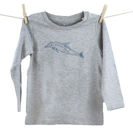 honourebel Kids' COMMON DOLPHIN Long Sleeve Top - 'Stormy' ArcticSeaGrey/Blue-Grey